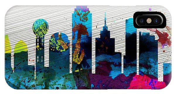 Dallas City Skyline IPhone Case
