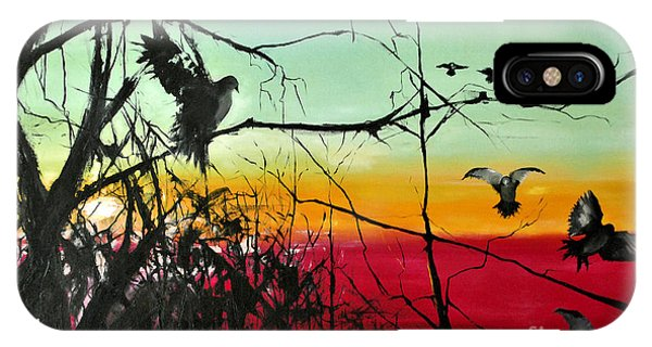 Doves At The Dawn IPhone Case