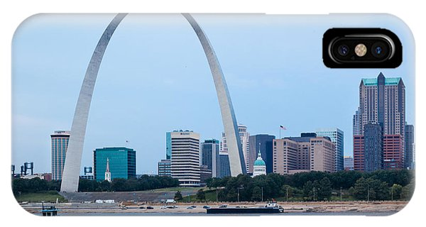 Downtown St Louis With Barge IPhone Case