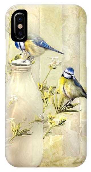 English Blue Tits IPhone Case