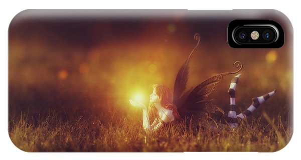 Golden Gardens iPhone Case -  Faerie Light  by Tim Gainey