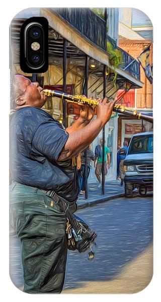 Steve Harrington iPhone Case -  Feel It - Doreen's Jazz New Orleans 2 by Steve Harrington