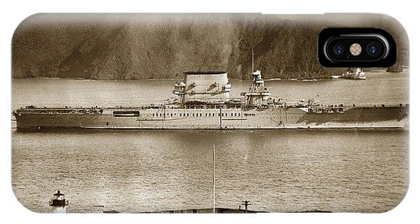 U. S. S. Lexington Cv-2 Fort Point Golden Gate San Francisco Bay California 1928 IPhone Case