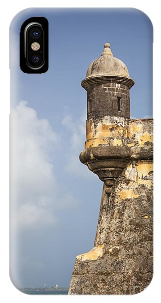 IPhone Case featuring the photograph  Fortified Walls And Sentry Box Of Fort San Felipe Del Morro by Bryan Mullennix