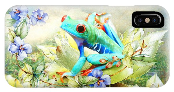 Frog On The Flowers IPhone Case