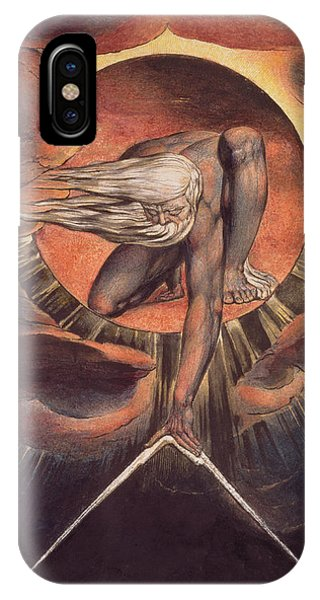 Ink iPhone Case -  Frontispiece From 'europe. A Prophecy' by William Blake