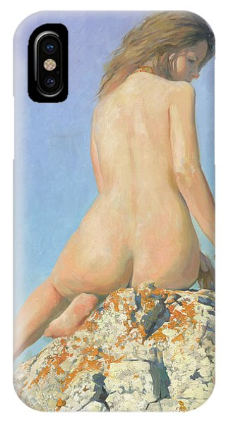 iPhone Case -  Girl And Sky 2012 by Denis Chernov