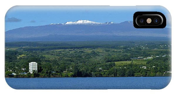 Hawaii's Snow Above Hilo Bay Hawaii IPhone Case