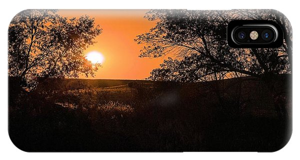 Hayfield At Night IPhone Case