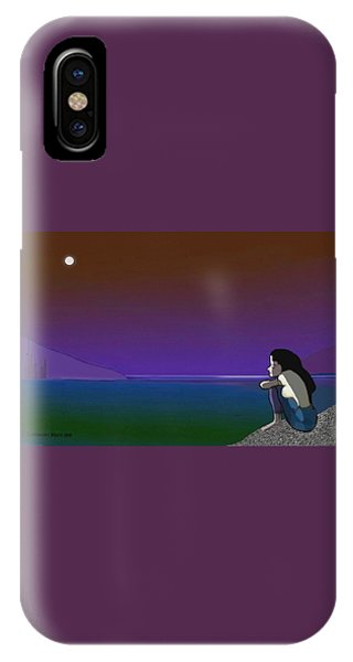 075 - Sitting At The Edge Of The Bay IPhone Case