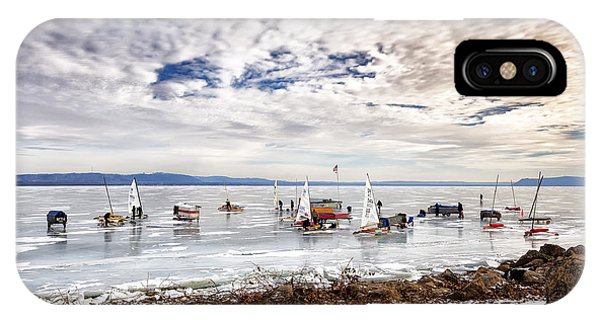 Ice Boats On Lake Pepin IPhone Case