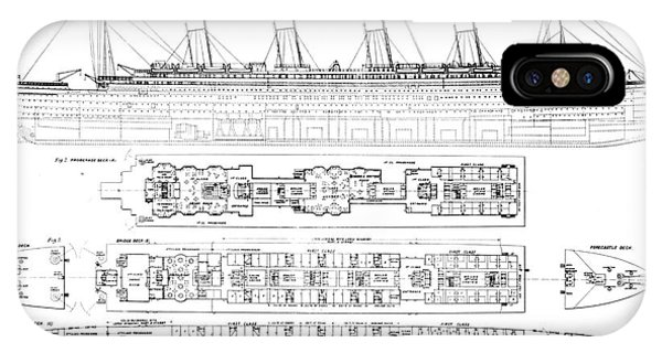Inquiry Into The Loss Of The Titanic Cross Sections Of The Ship  IPhone Case