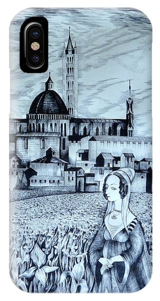 Italian Fantasies. Siena IPhone Case