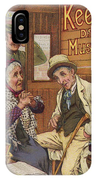 Mustard iPhone Case -  Keen's Mustard -  An Elderly Couple by Mary Evans Picture Library