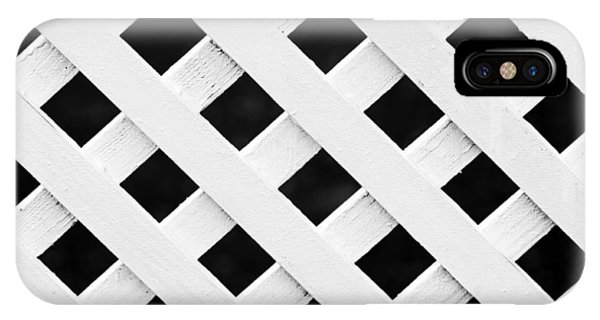 Lattice Fence Pattern IPhone Case