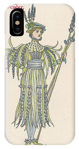 Lavender iPhone Case -  Lavender Personified         Date 1906 by Mary Evans Picture Library