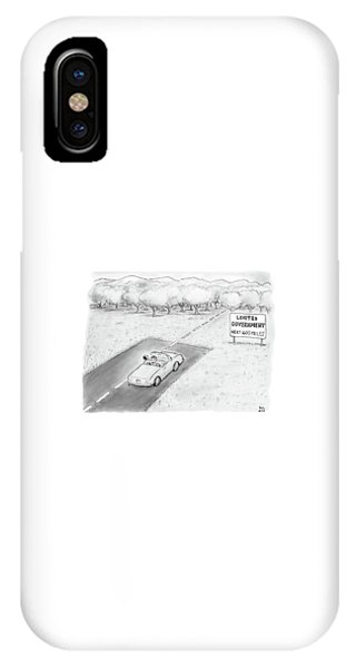Sign iPhone Case -  Limited Government by Paul Noth
