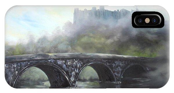Ludlow Castle In A Mist IPhone Case