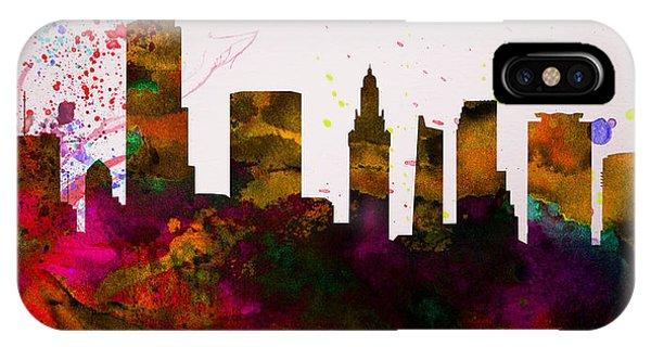 Florida iPhone Case -  Miami City Skyline by Naxart Studio