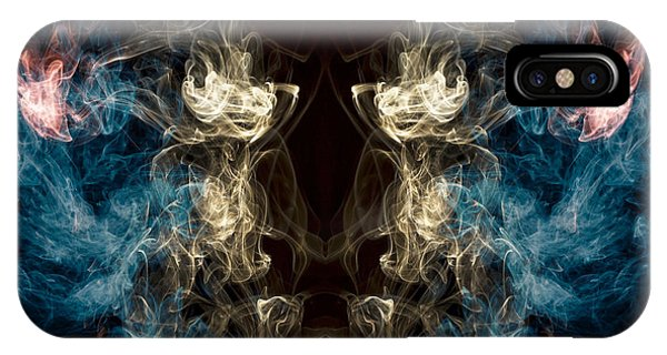 Minotaur iPhone Case -  Minotaur Smoke Abstract by Edward Fielding
