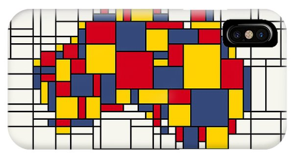 Mondrian Inspired Australia Map IPhone Case