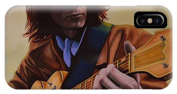 Singer iPhone Case -  Neil Young Painting by Paul Meijering