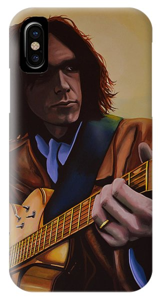 Popstar iPhone Case -  Neil Young Painting by Paul Meijering