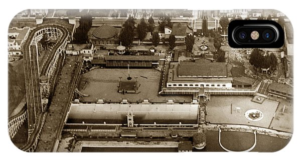 Neptune Beach Olympic Size Swimming Pool And A Roller Coaster Alameda Circa 1920 IPhone Case