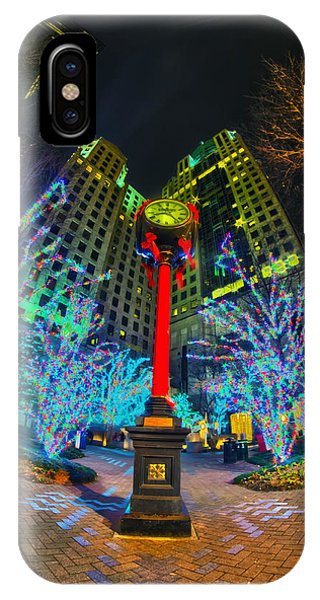 Nightlife Around Charlotte During Christmas IPhone Case