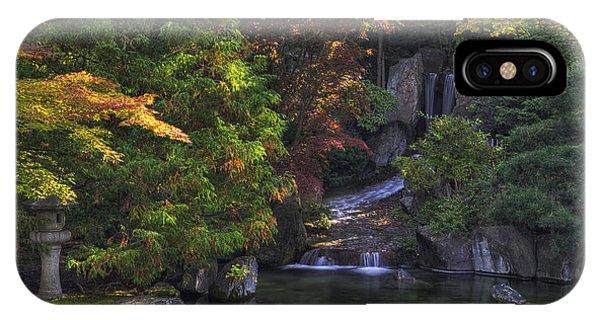 Nishinomiya Japanese Garden - Waterfall IPhone Case