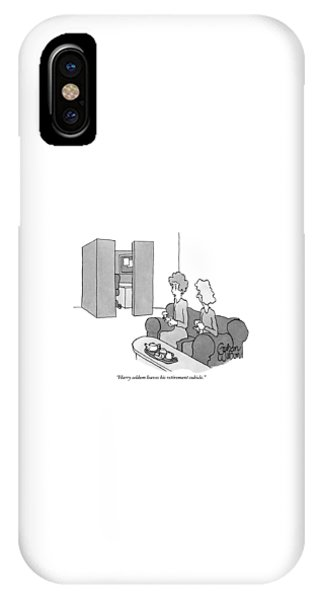 One Woman Says To Another While They Have Tea IPhone Case