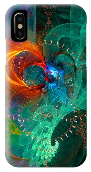 Parallel Reality - Colorful Digital Abstract Art IPhone Case