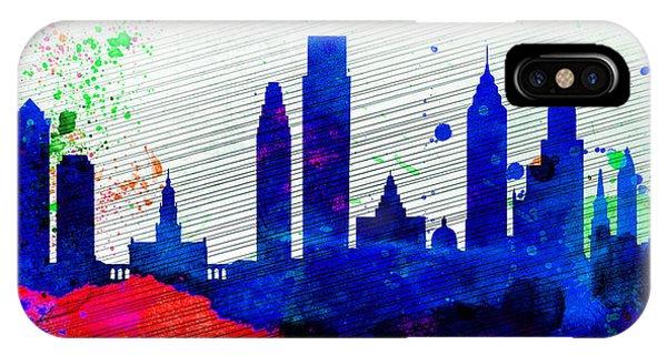 Philadelphia City Skyline IPhone Case