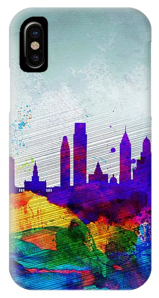 Philadelphia Watercolor Skyline IPhone Case
