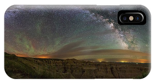 North Dakota Badlands iPhone Case -  Pinnacles Overlook At Night by Aaron J Groen