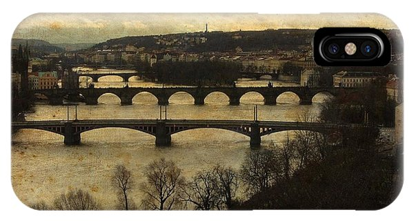 Vintage Prague Vltava River 1 IPhone Case