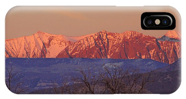 Radiant Ragged Mountain Evening Co II IPhone Case