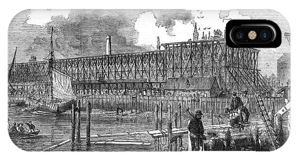 Rebuilding The Houses Of  Parliament Phone Case by  Illustrated London News Ltd/Mar