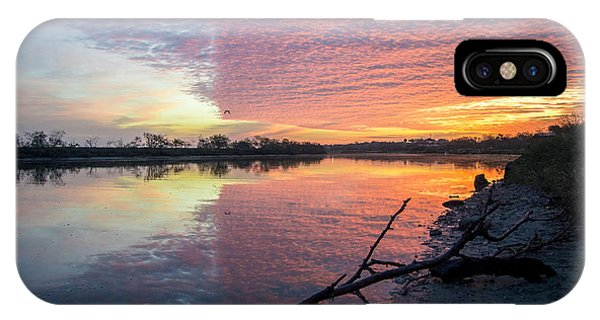 River Glows At Sunrise IPhone Case