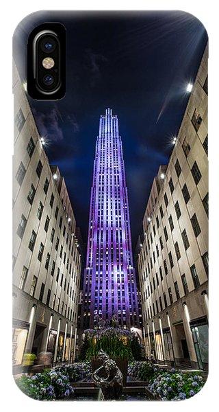 Hudson River iPhone Case -  Rockefeller Center - New York - New York - Usa 3 by Larry Marshall