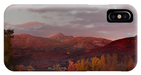 Rocky Peak Autumn Sunset IPhone Case