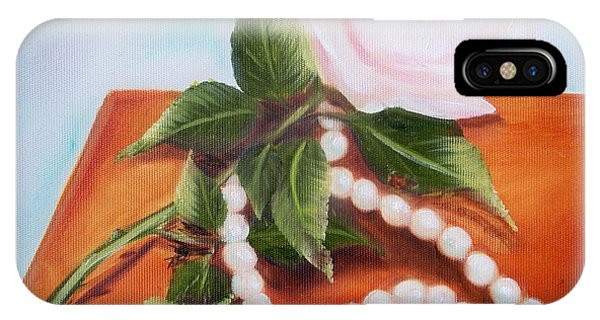 Rose And Pearls IPhone Case