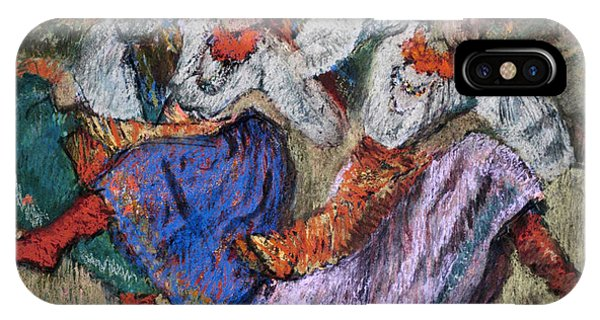 Impressionistic iPhone Case -  Russian Dancers by Edgar Degas