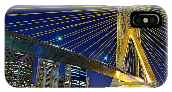Sao Paulo's Iconic Cable-stayed Bridge  IPhone Case