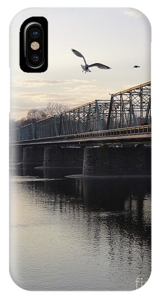 Gulls At The Bridge In January IPhone Case