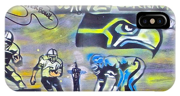 Mtv iPhone Case -  Seattle Seahawks Superbowl  by Tony B Conscious