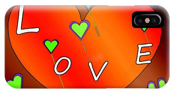 Simple  Love  Heart  - 505  IPhone Case
