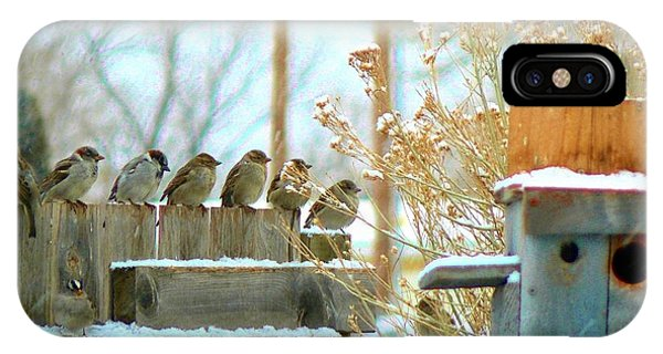 7 Winter Sparrows IPhone Case