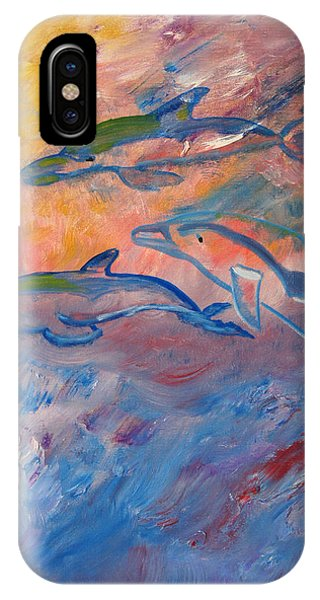 Soaring Dolphins IPhone Case