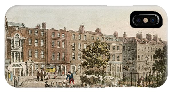Soho Square, With Cattle         Date Phone Case by Mary Evans Picture Library